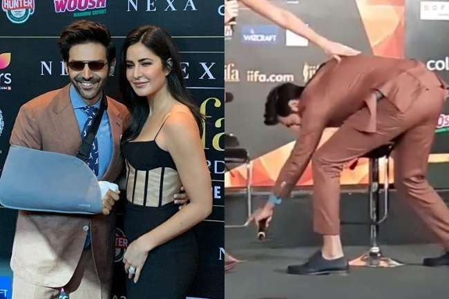 Kartik Aryan Touches Katrina Kaif's Feet On Being Late, Watch Video