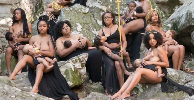 Chocolate Milk Mommies: This Breastfeeding PhotoShoot Depicts Something Incredible