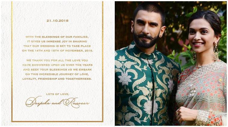 Why Deepika-Ranveer Chose to Announce Their Wedding Date on October 21?