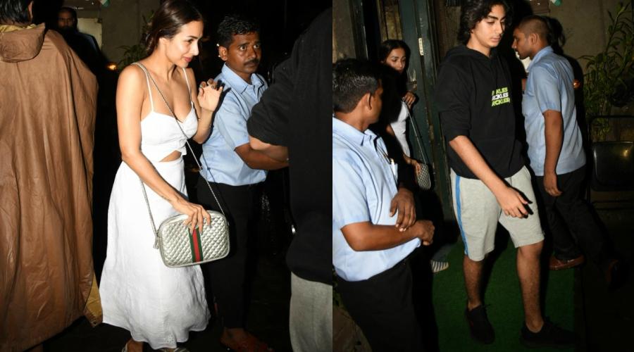 Malaika Arora Wears Sexy Dress on an Outing With Son Arhaan