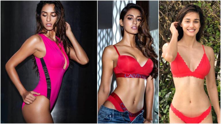Disha Patani Boosts The Temperature In This Red Bikini From The Sets Of Malang
