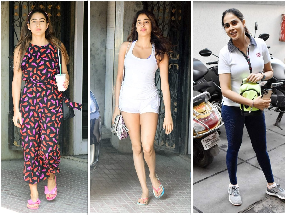 Sara Ali Khan, Janhvi Kapoor and Genelia Deshmukh hits the gym