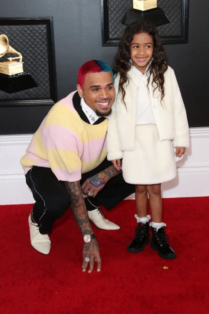 Chris Brown, left and Royalty Brown