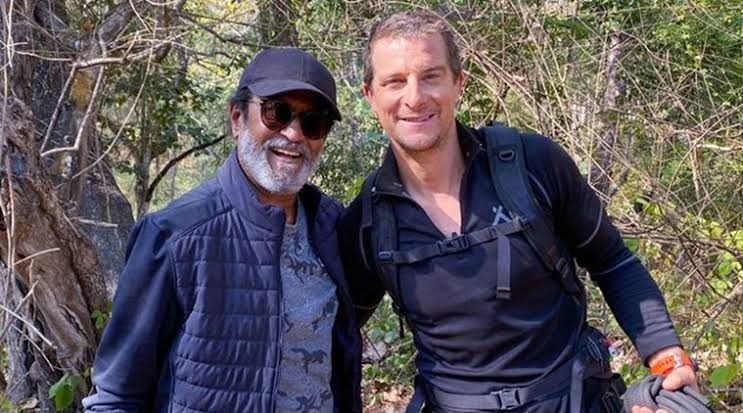rajnikanth with bear grylls