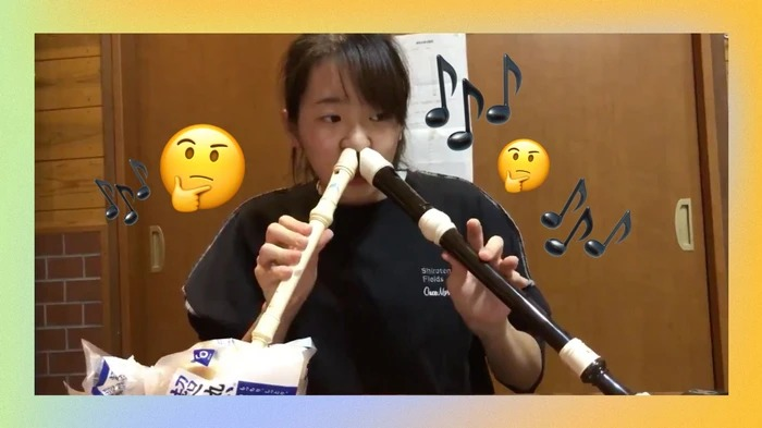 Girl Plays Recorder Through Nostril