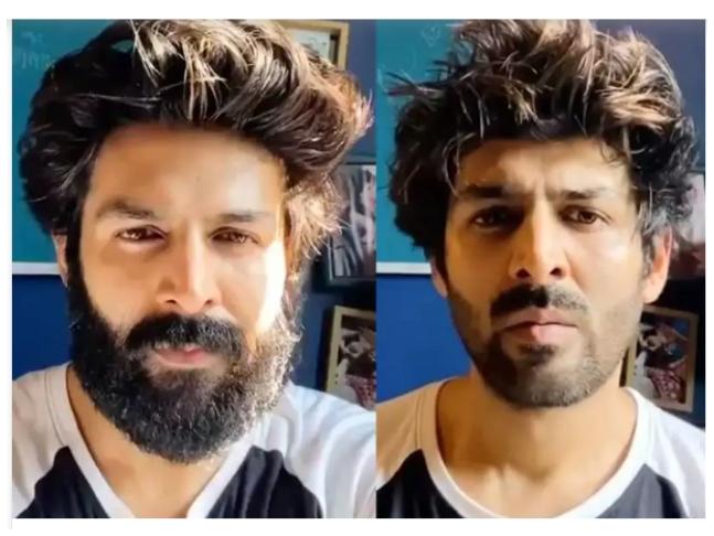Kartik Aaryan FINALLY shaves off his beard, Watch the hilarious video