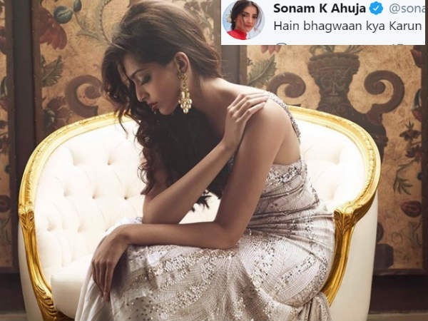 "Sonam Kapoor Gets Badly Trolled After Posting A Picture With A Caption ""Hey Bhagwan Kya Karu"""