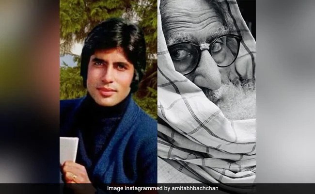 Amitabh Bachchan Shared His Then And Now Pic