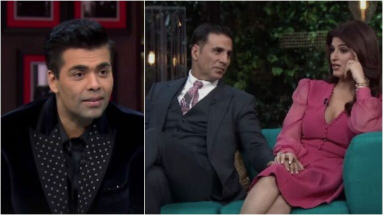 Twinkle Khanna And Akshay Kumar Hilarious Video From The Sets Of Koffee With Karan