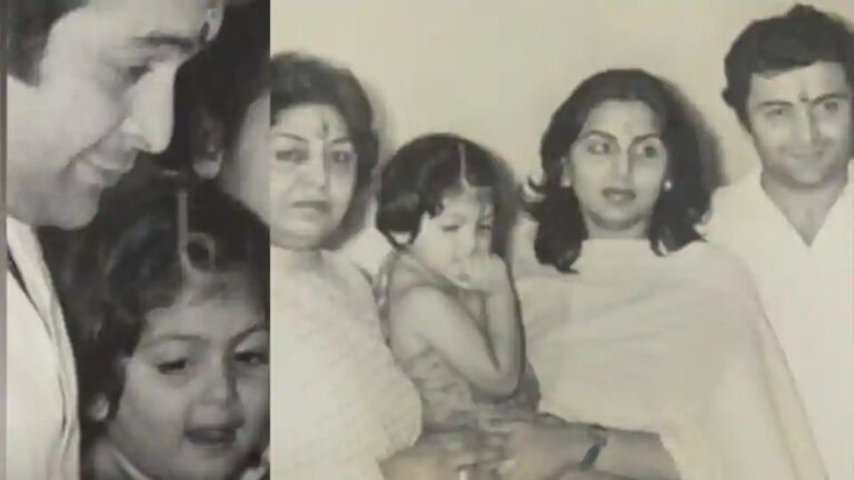 Riddhima Shared Unseen Photo Of Father Rishi Kapoor