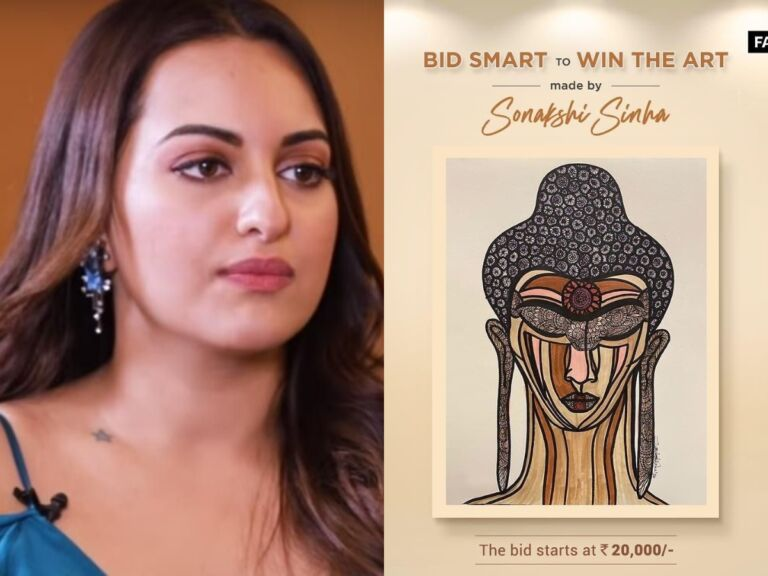 Sonakshi Sinha Puts Her Art Work On Auction To Help Daily Wage Workers