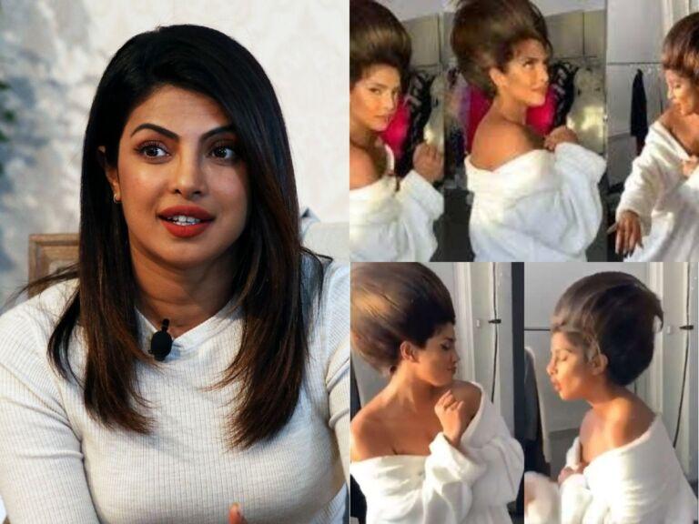 Priyanka Chopra Candid Video In Quirky Hairdo Will Surely Grab Yor Attention: Watch video