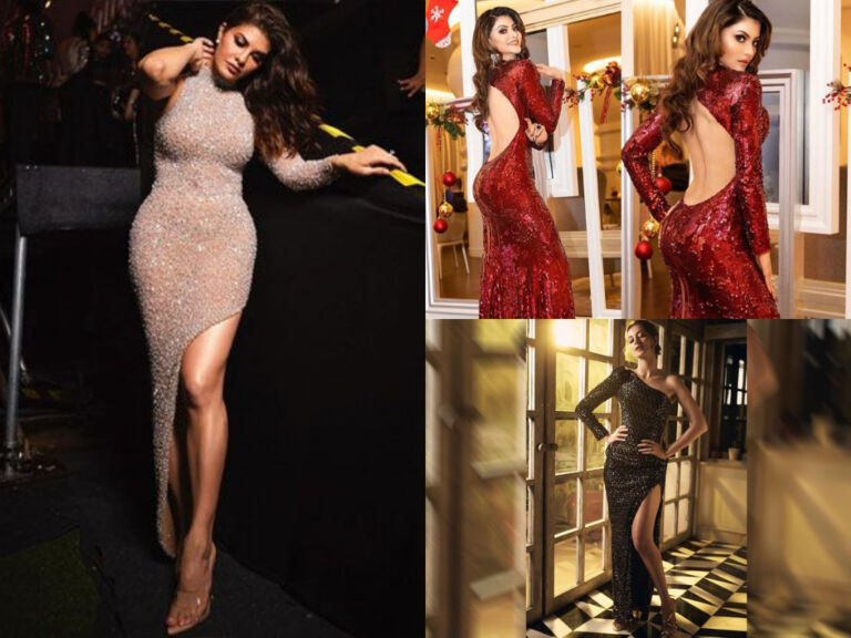 Shimmer Sequins Gown Look Of Bollywood Actresses Including Disha Patani And Jacqueline Fernandes