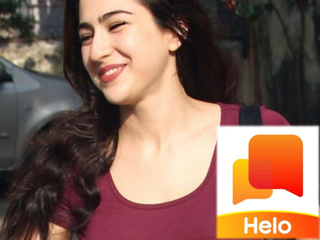 Sara ali khan On helo