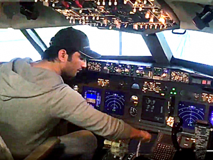 Sushant Singh Rajput's Viral Video Of Flying A Boeing 737 Airplane
