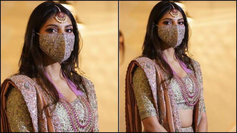 Bridal Face Mask Of Mihika Bajaj Is A Need Of The Hour Amid Pandemic