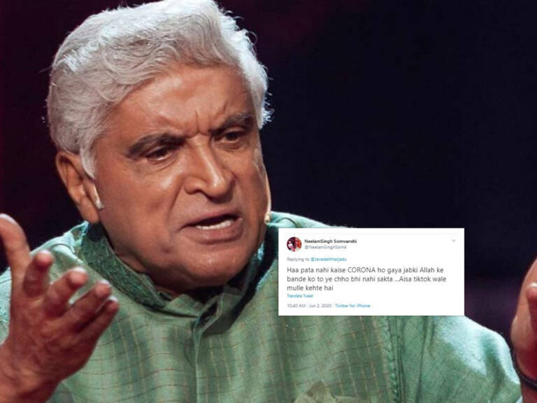 Twitterati Girl Smacked By Javed Akhtar After Making Fun Of Wajid's Death