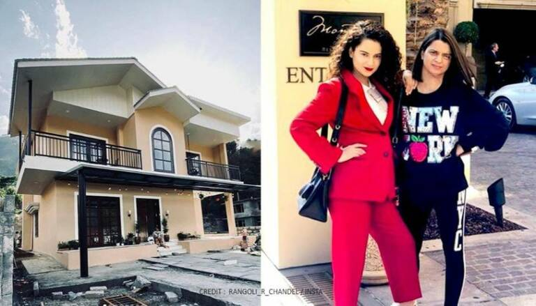 Puja Pictures Of Kangana's Sister Rangoli New House In Himalayas
