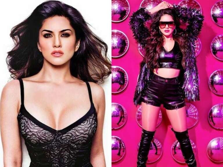 Sunny Leone  Looking Fire In The Black OutFit