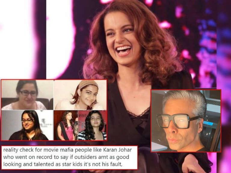 Kangana Ranaut Slams Karan Johar On Saying Starkid's As Good Looking