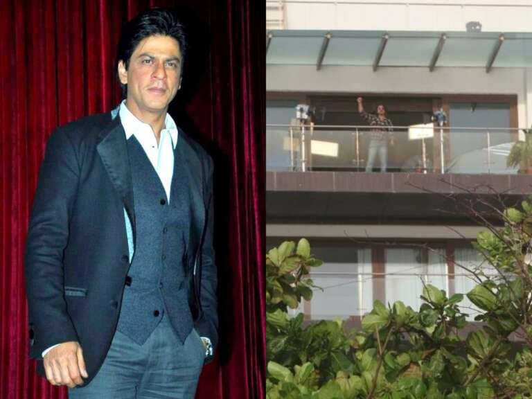 Shah Rukh Khan Mannat Balcony  Turns Into A Shooting Set.