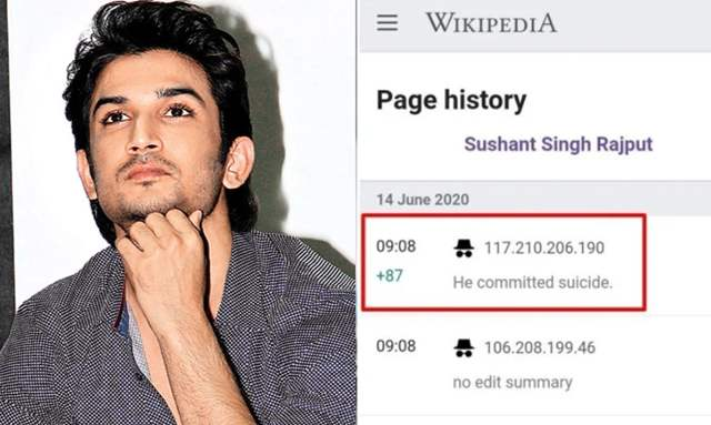 Truth Of Sushant's Death News Updated On Wikipedia Before His Suicide