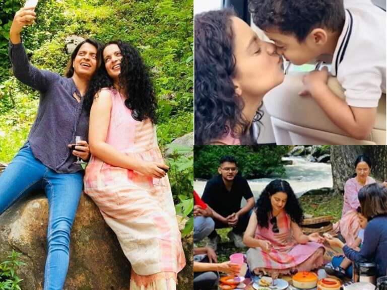 Kangana Ranaut Enjoying Family  Picnic In Manali: Watch Video
