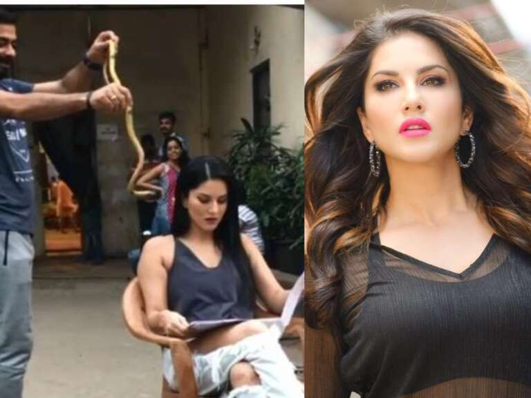 Throwback  Video: Sunny Leone's Reaction After She Sees A Snake