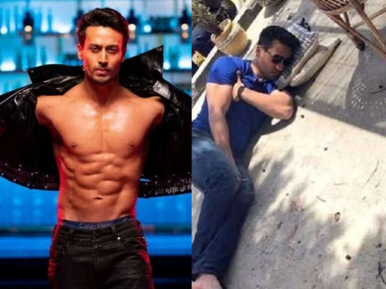 Tiger Shroff Was Seen Sleeping On The Ground: Check It Out