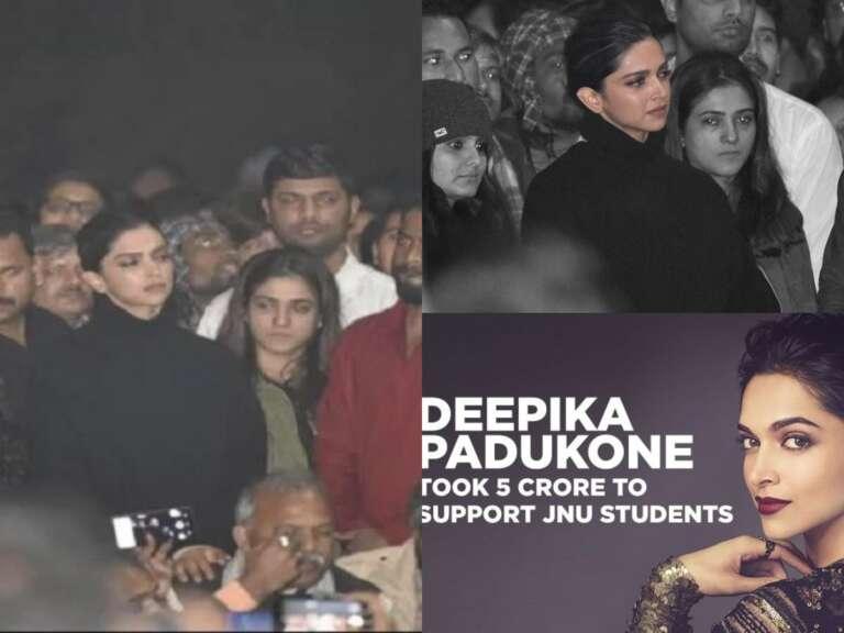 Deepika Padukone Accused Of Taking 5 Crores To Support JNU students