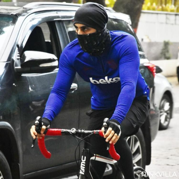 This Superstar Was Snapped Cycling On The Streets Of Mumbai