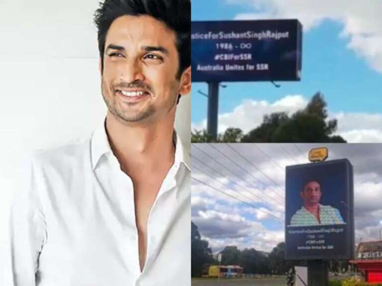 7 billboards spotted in Australia for Sushant Singh Rajput
