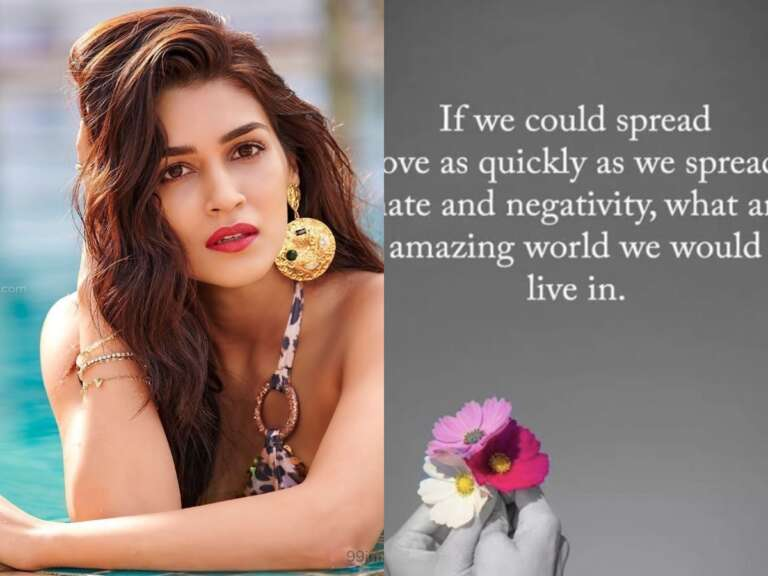 Kriti Sanon Post On Hatred And Negativity Is Worth Checking Out