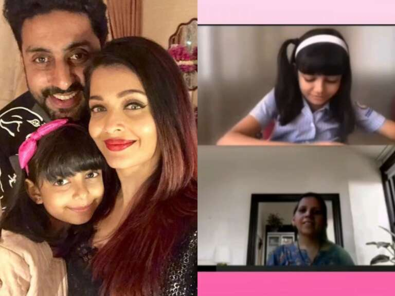 Aishwarya's daughter Aaradhya Bachchan said 'Dhanyawaad Miss'to Her teacher