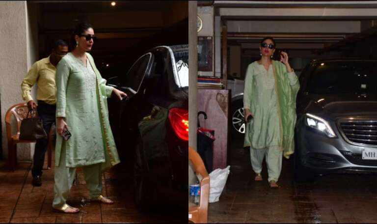 Kareena Kapoor Khan Spotted In Bandra: Flaunts Baby Bump