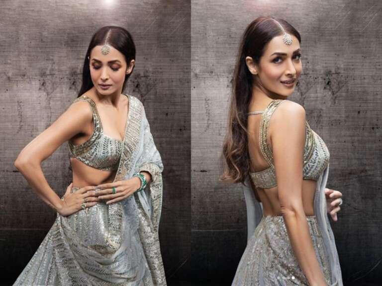 Malaika Arora shares stunning pictures in grey designer lehenga