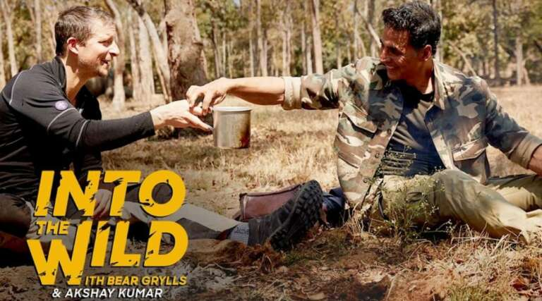 "Akshay Kumar"" Creates History For""Into The Wild with Bear Grylls"