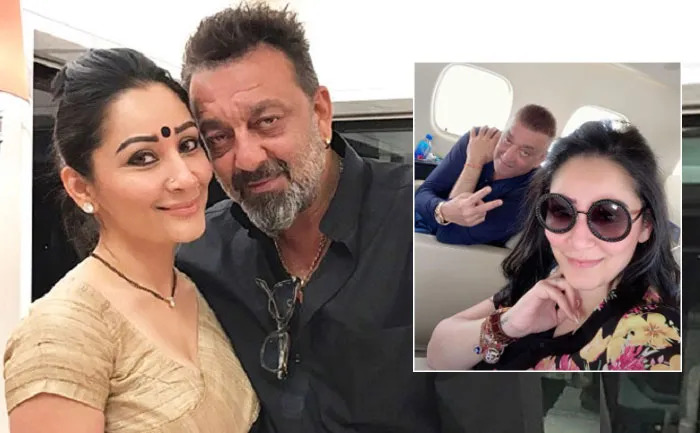 Sanjay Dutt Flies To Dubai For Cancer Treatment With Wife Manyata