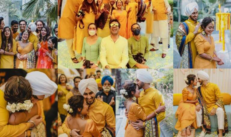 Inside Pics Of Neha Kakkar And Rohanpreet's Haldi Ceremony