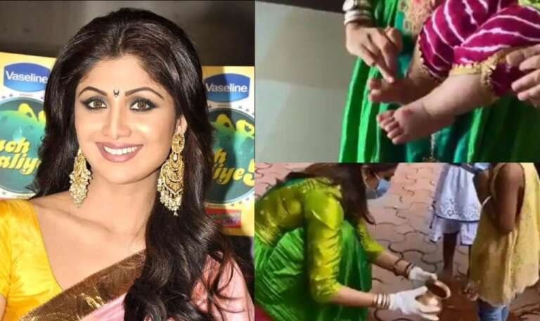 Shilpa Shetty Performs Kanya Puja With Daughter Samisha
