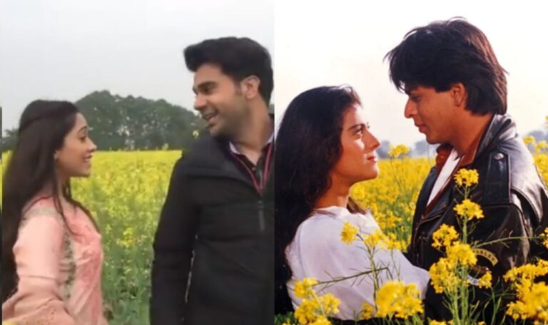 Iconic Movie DDLJ's Song Re-created Once Again By Nushrratt and Rajkummar