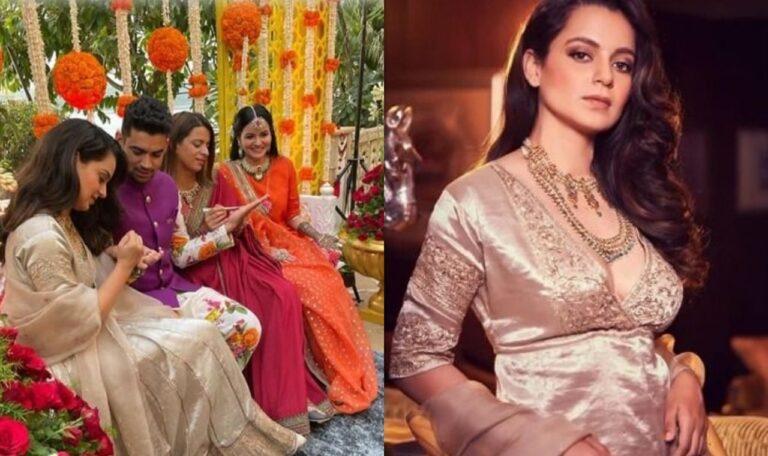 Kangana Ranaut Enjoying Pre-Wedding Festivities Of Her Brother: See Inside Pics