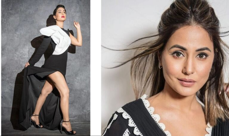 Hina Khan Flaunts In Black And White Dress: But The Price Will Blow Your Mind