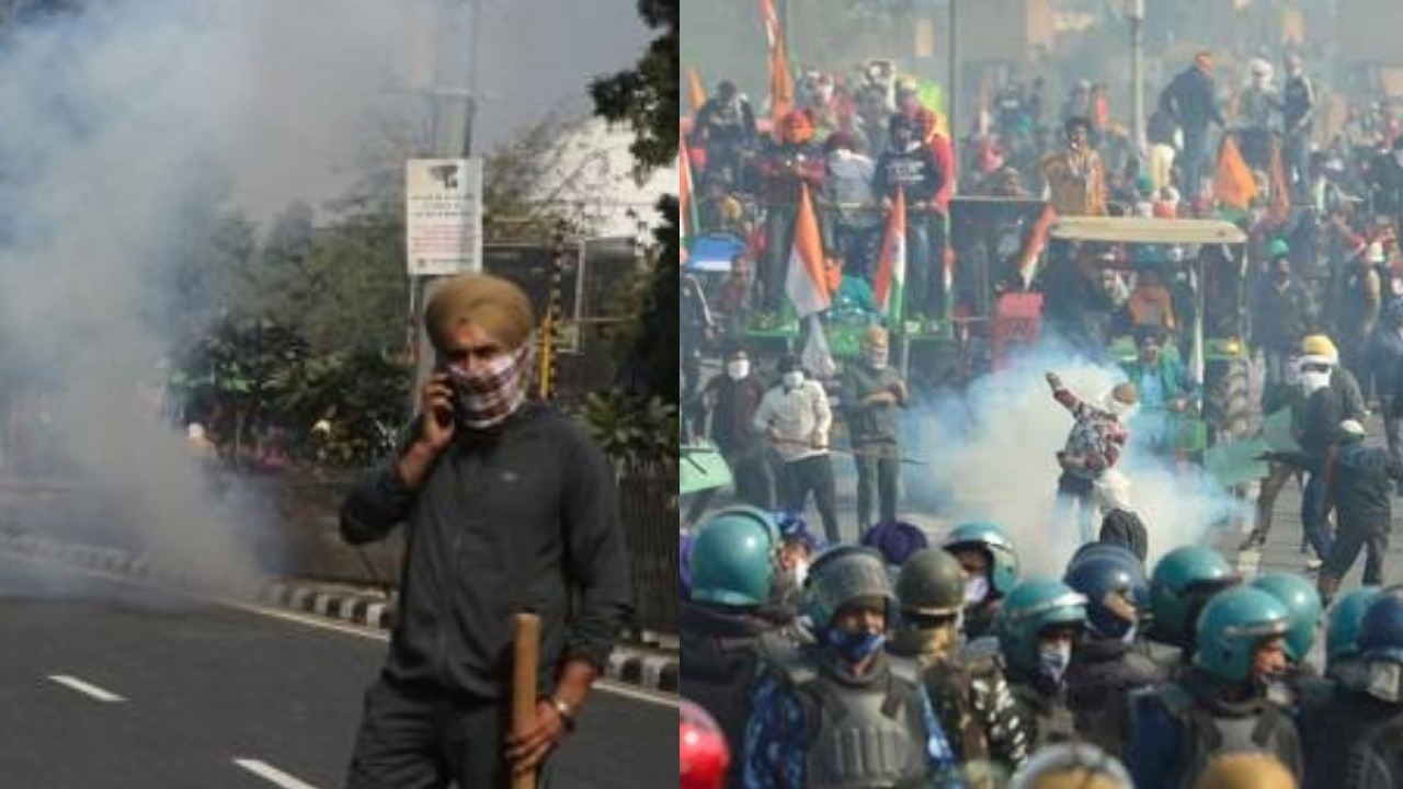 Farmers rally turned violent on republic day
