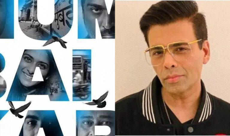 Karan Johar Launches The First Look Of The Film Mumbaikar