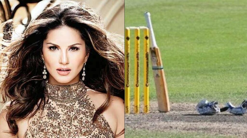Sunny Leone trying out hands at cricket