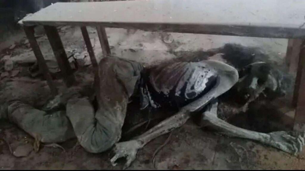 Male Skeleton found in school in Varanasi
