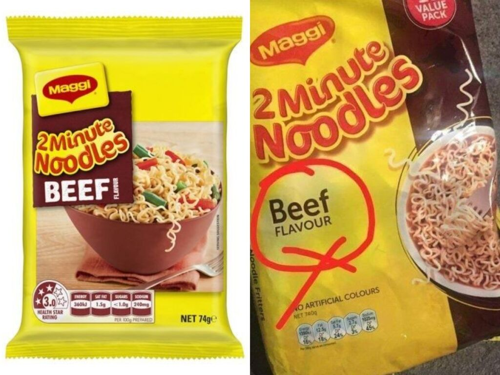 beef maggi in india