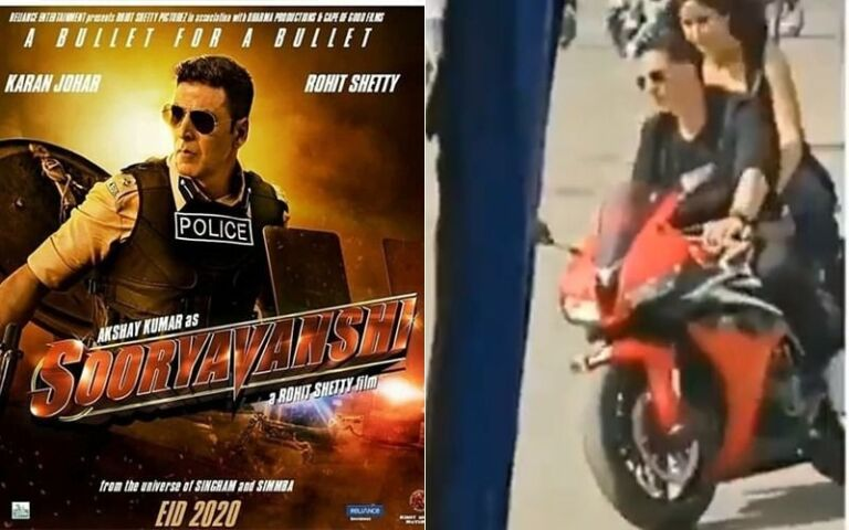 "Sooryavanshi LEAKED Video: Akshay Kumar And Katrina Kaif's Bike Moment As They Shoot For Song ""Na Ja"""