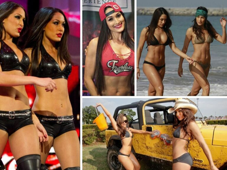 Top 10 Hot Photos Of WWE Diva's Bella Twins Are Too Hot To Handle